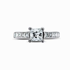 Princess Cut With Channel Set Princess Cut Shoulders 0.72ct DVS1 GIA